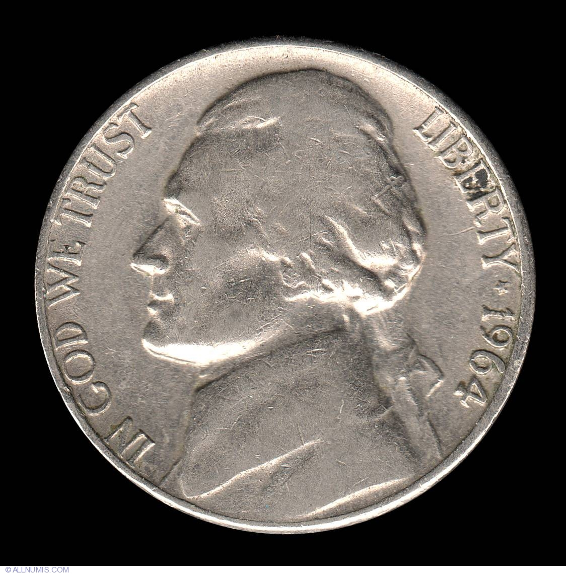 Jefferson Nickel 1964 D