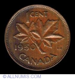 Image #2 of 1 Cent 1950