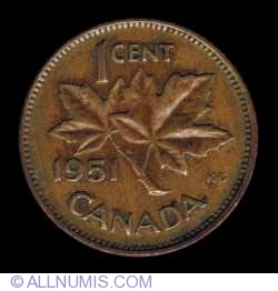 Image #2 of 1 Cent 1951