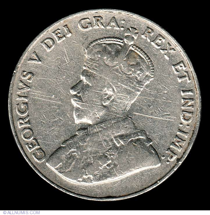 1933 CANADA 5¢ KING GEORGE V NICKEL COIN LOW MINTAGE