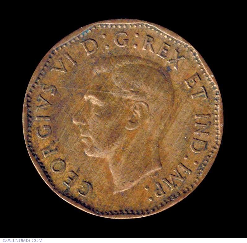 5 Cents 1943 George Vi 1937 1952 Canada Coin 7281