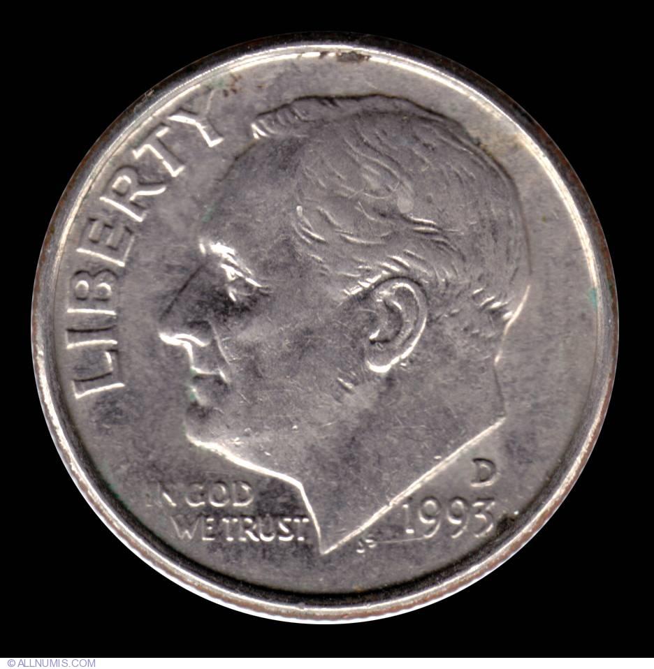 Dime 1993 D, Dime, Roosevelt (1946-present) - United ...