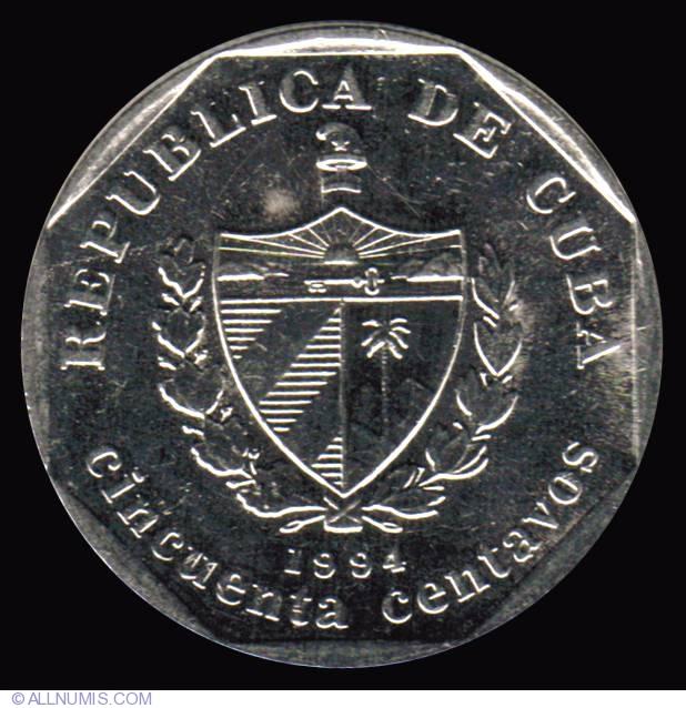50 Centavos 1994 Cuban Convertible Peso 1994 Present Cuba Coin 10672