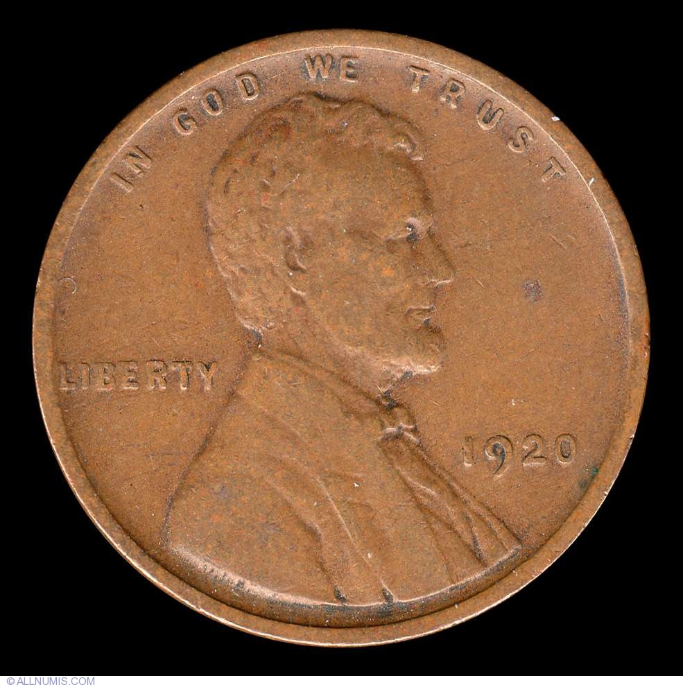 Lincoln Cent 1920 Cent Lincoln Wheat 1909 1958 United States Of America Coin 8958