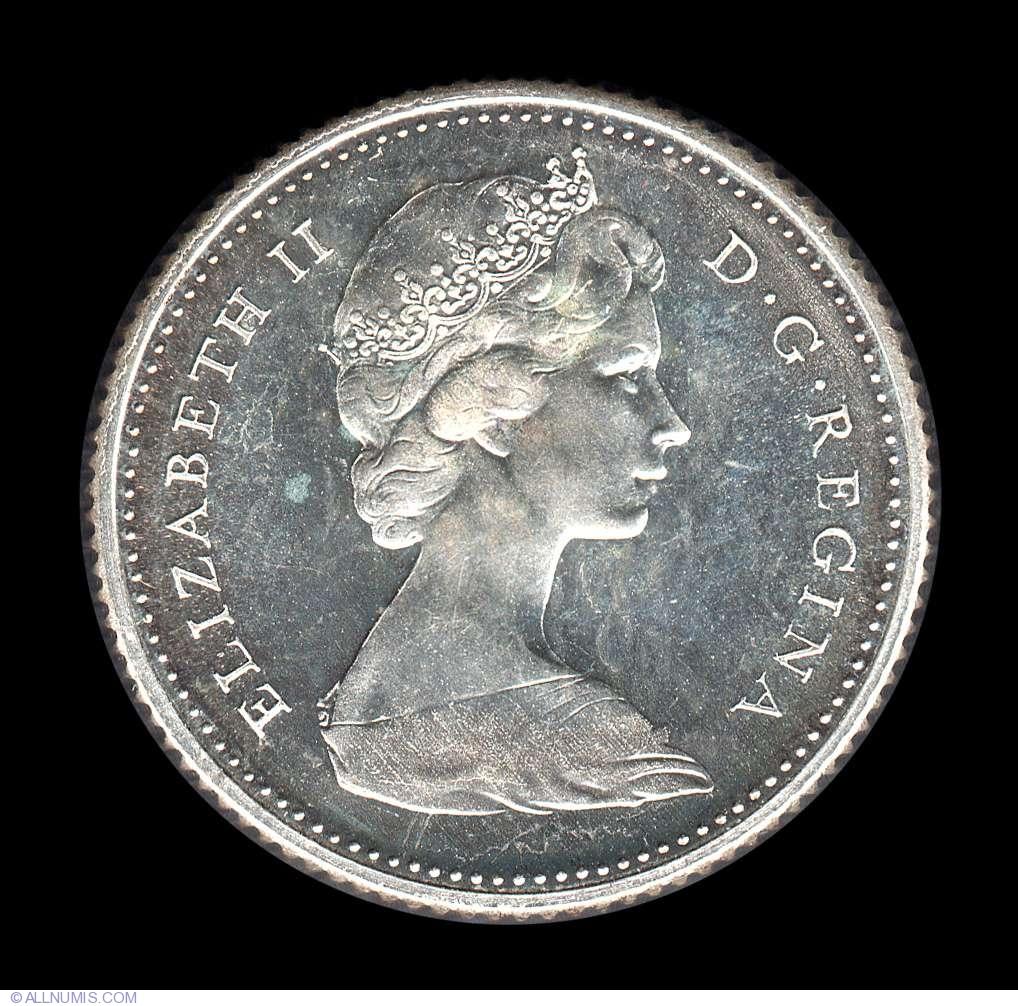 10 Cents 1966 Elizabeth Ii 1953 Present Canada Coin 8655