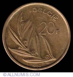 20 Francs 1980 (Belgie)