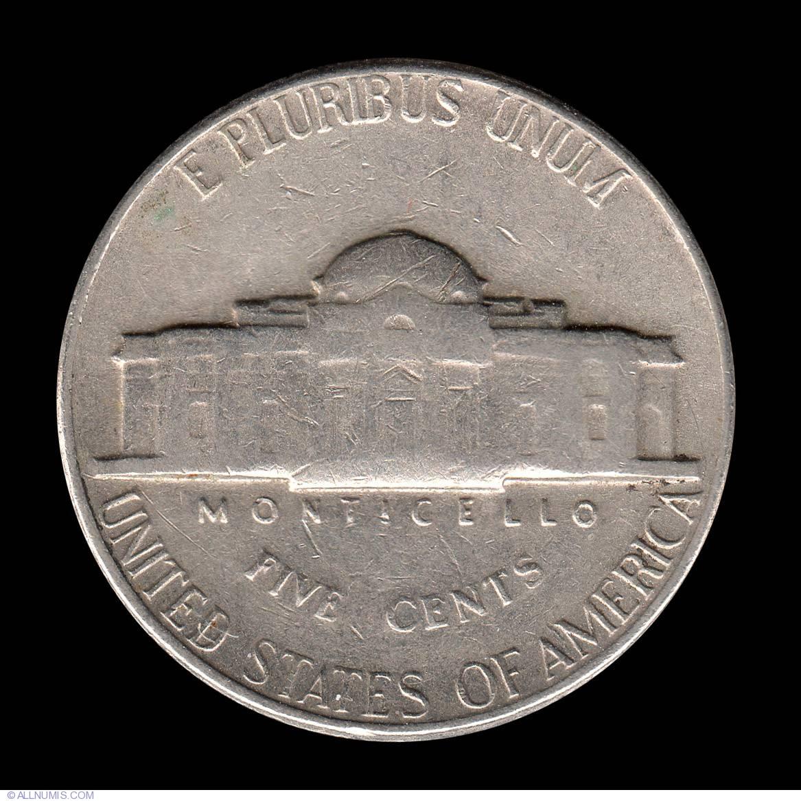 Jefferson Nickel 1968 D, Nickel (Five Cents), Jefferson