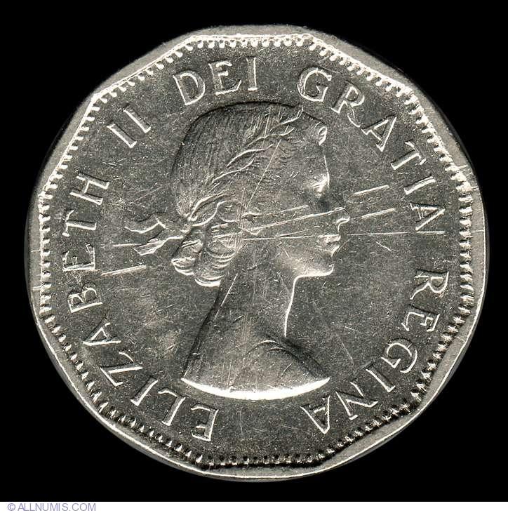 Canada 1961 5 Cents Elizabeth II Canadian Nickel Five Cent