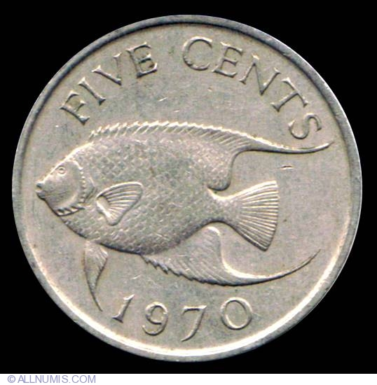5 Cents 1970 1970 1985 Issue Bermuda Coin 10452