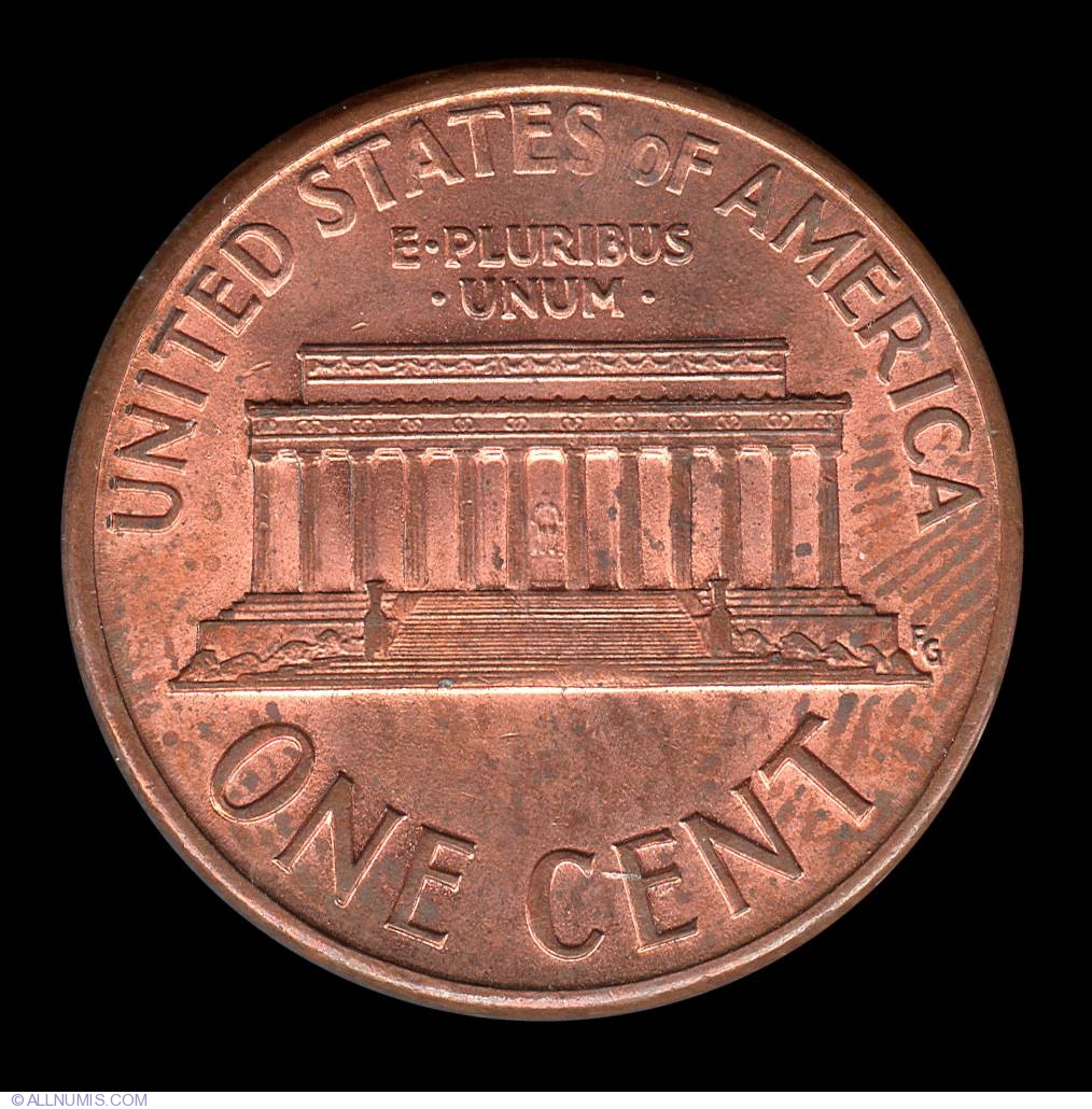 1 Cent 1989, Cent, Lincoln Memorial (1959-2008) - United States of