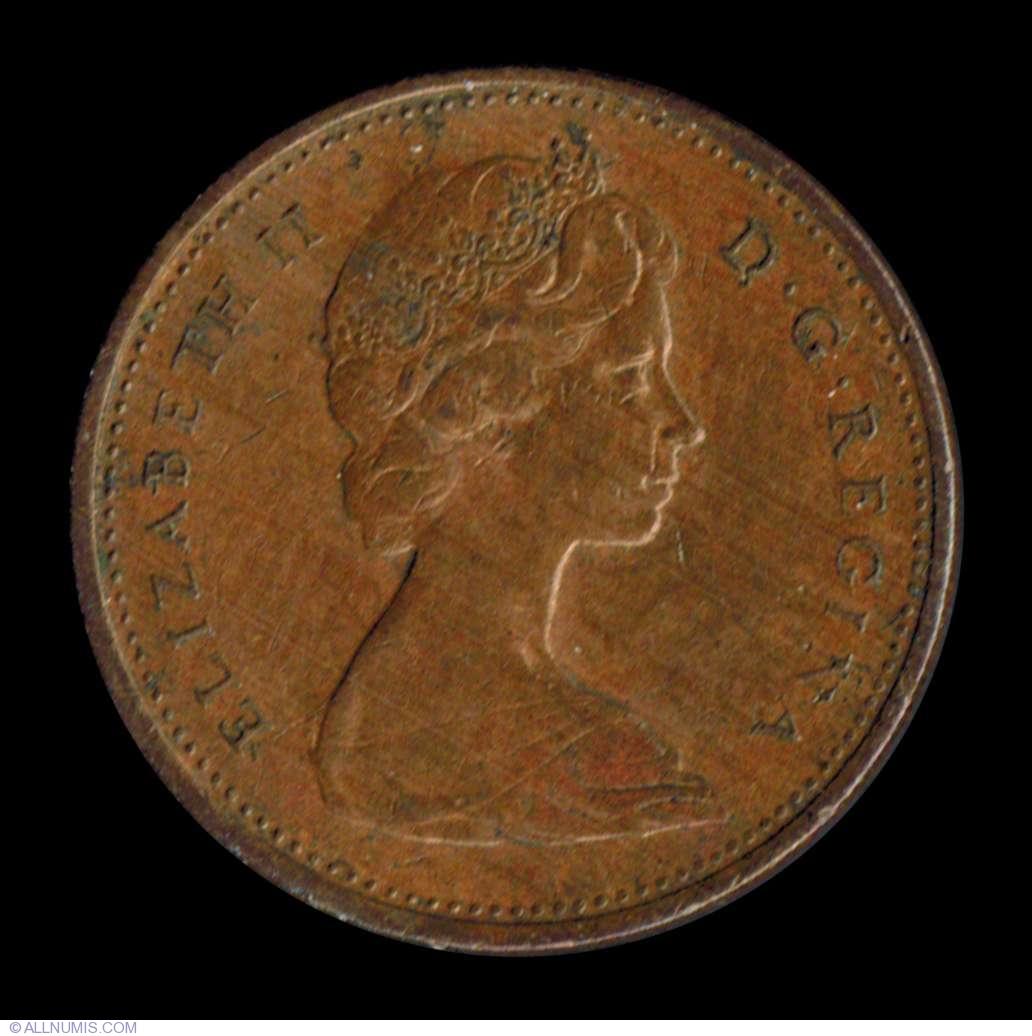 1 Cent 1966 Elizabeth Ii 1953 Present Canada Coin 7422