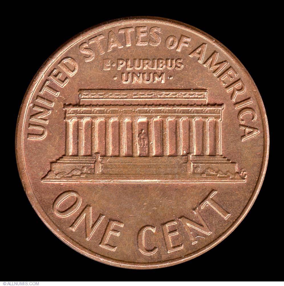 1 Cent 1971 Cent Lincoln Memorial 1959 2008 United States Of America Coin 9068