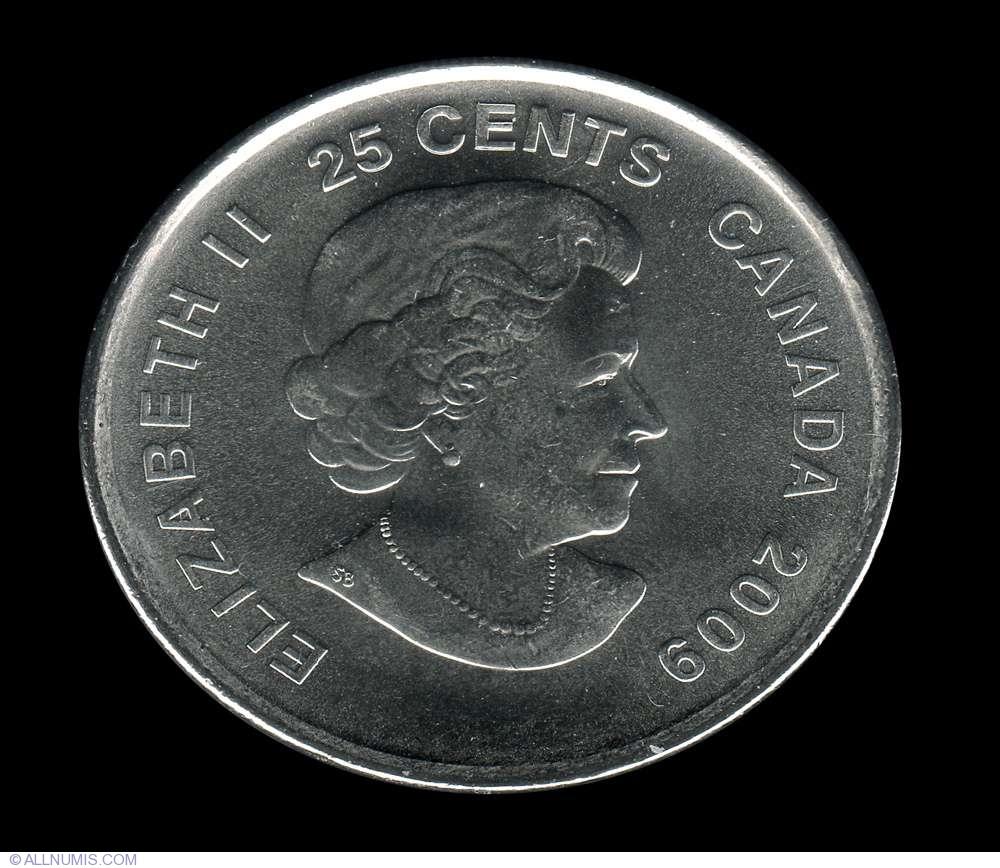 2009 Canada 25 Cents BU