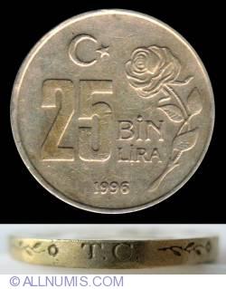 Image #1 of 25,000 (25 BIN) Lira 1996