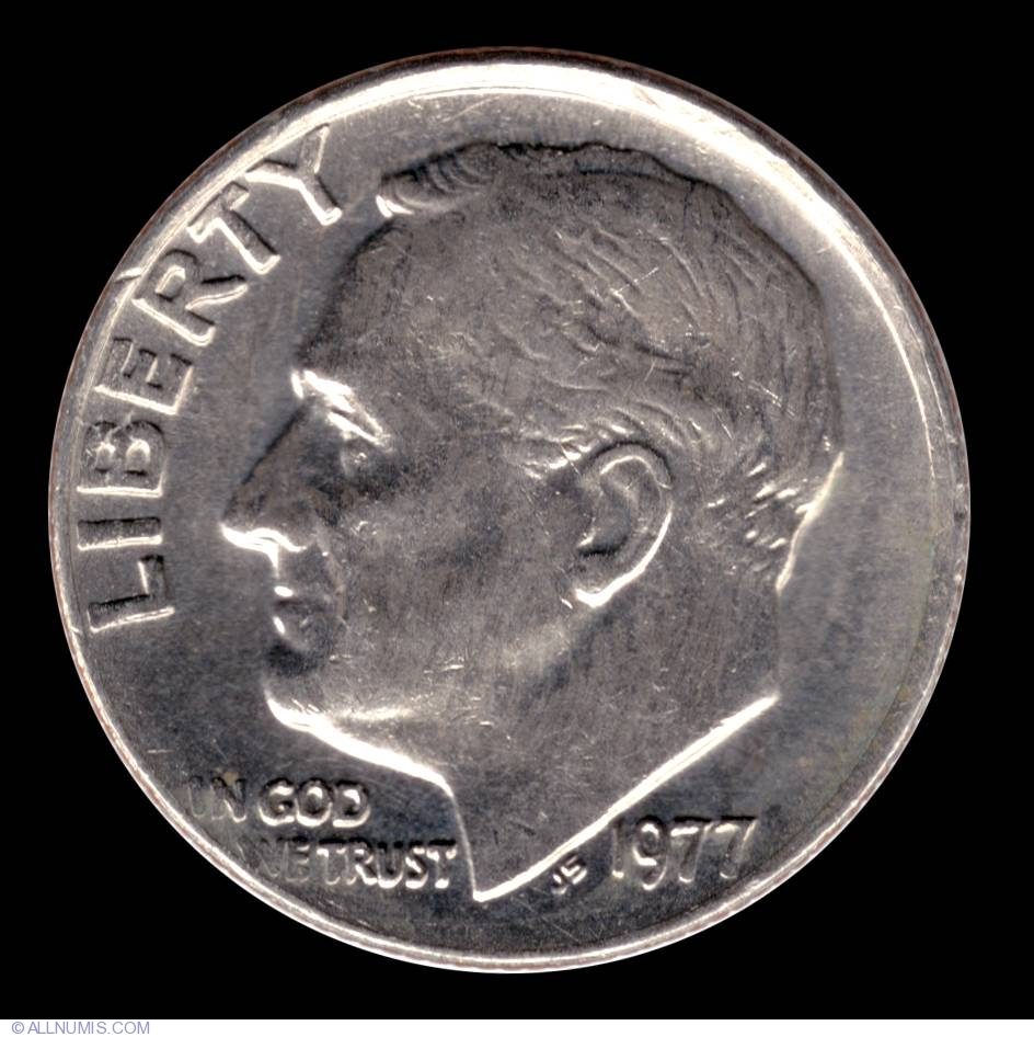 U.S Cameo Proof American 10 Cents Coin 1977 S Roosevelt Dime