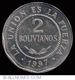 Image #2 of 2 Bolivianos 1997