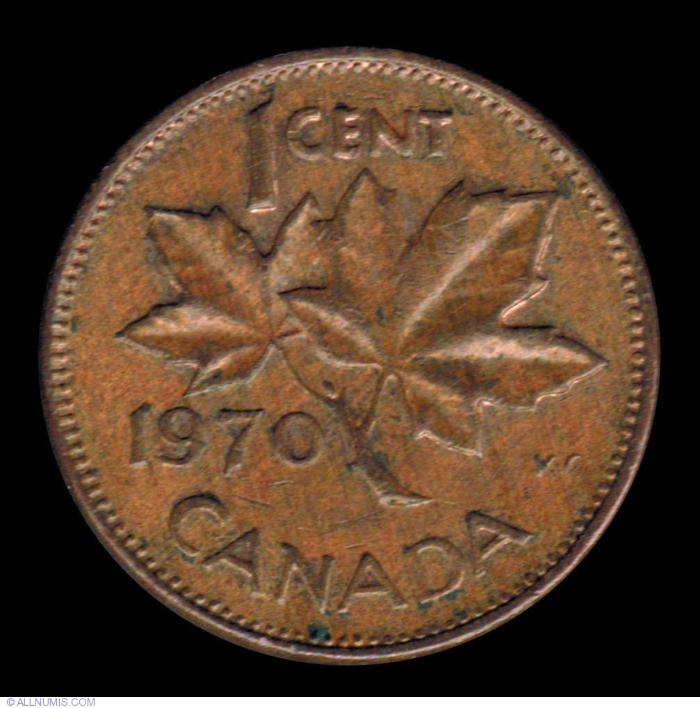 1 Cent 1970 Elizabeth Ii 1953 Present Canada Coin 7419