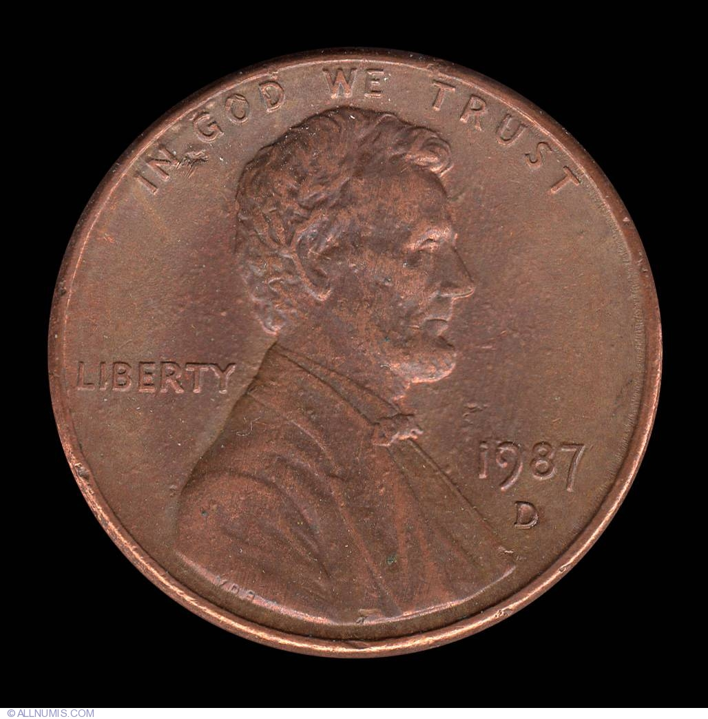 Lincoln Memorial Cent 1987 D