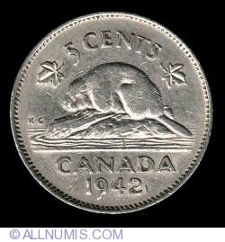 Image #2 of 5 Cents 1942