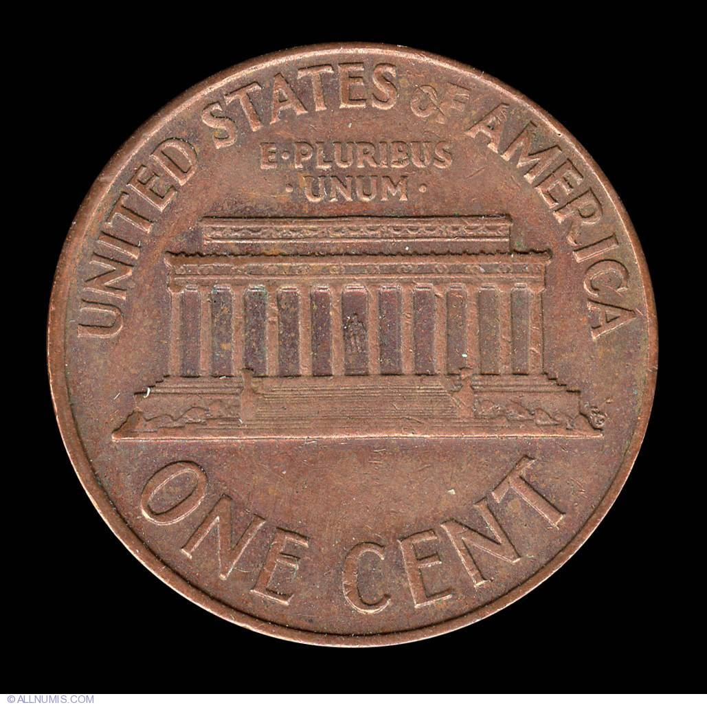 1 Cent 1965 Cent Lincoln Memorial 1959 2008 United