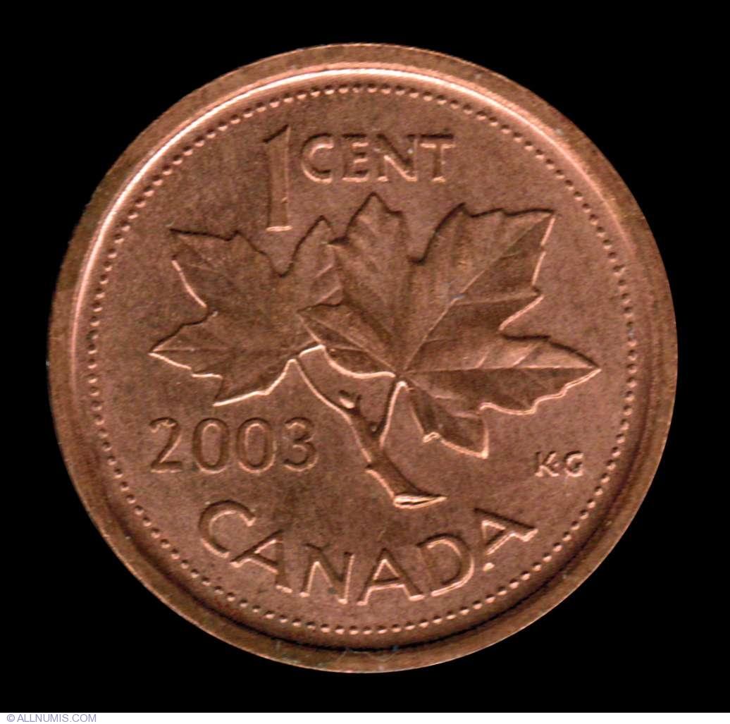 1 Cent 2003 P Elizabeth Ii 1953 Present Canada Coin 7783