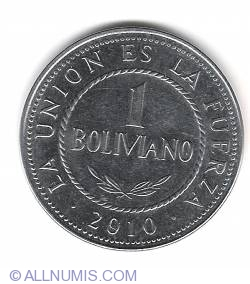 Image #1 of 1 Boliviano 2010