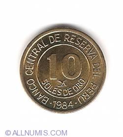 Imaginea #1 a 10 Soles 1984 - 150th Anniversary Birth of Admiral Grau