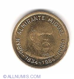 Imaginea #2 a 10 Soles 1984 - 150th Anniversary Birth of Admiral Grau