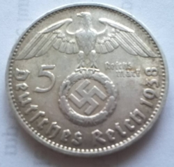 Image #1 of 5 Reichsmark 1938 D