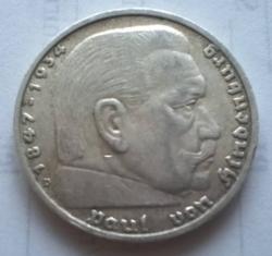 5 Reichsmark 1938 D