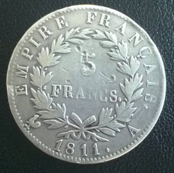 Image #1 of 5 Francs 1811 A