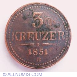 Image #1 of 3 Kreuzer 1851 B