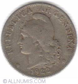 Image #2 of 20 Centavos 1922