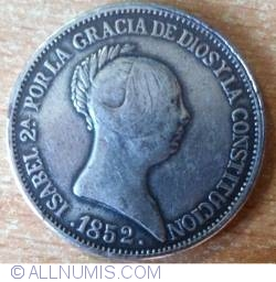 Image #1 of 20 Reales 1852