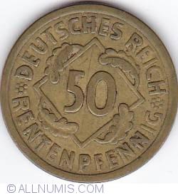 Image #1 of 50 Rentenpfennig 1924 A