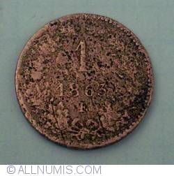 1 Kreuzer 1863 E