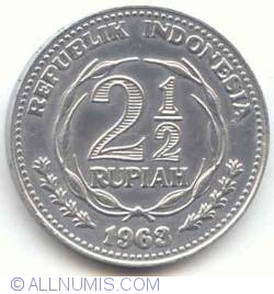 Image #2 of 2 1/2 Rupiah 1963