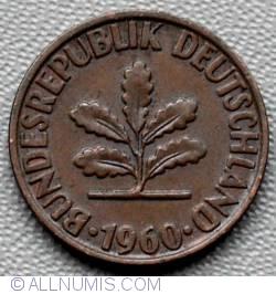 Image #2 of 2 Pfennig 1960 D