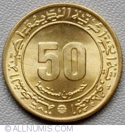 Image #1 of 50 Centimes 1975 - 30th anniversary French-Algerian Clash