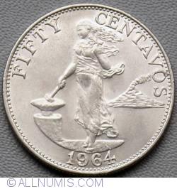 Image #2 of 50 Centavos 1964