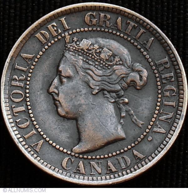 1 Cent 1900 H Victoria 1858 1901 Canada Coin 9879