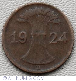 Image #2 of 1 Rentenpfennig 1924 D