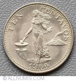 Image #2 of 10 Centavos 1966