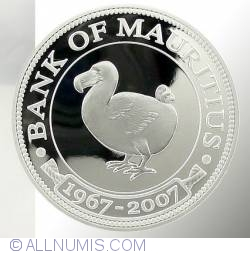 Image #1 of 200 Rupees 2007 - 40 Years of the Bank of Mauritius.