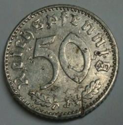 Image #1 of 50 Reichspfennig 1943 J
