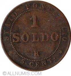 Image #2 of 1 Soldo 1866 - Large bust - large date