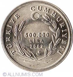 Image #2 of 500000 Lira 2002