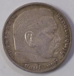Image #2 of 5 Reichsmark 1936 E - Paul von Hindenburg