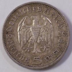 Image #1 of 5 Reichsmark 1936 E - Paul von Hindenburg