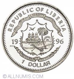 Image #2 of 1 Dollar 1996 Liberia